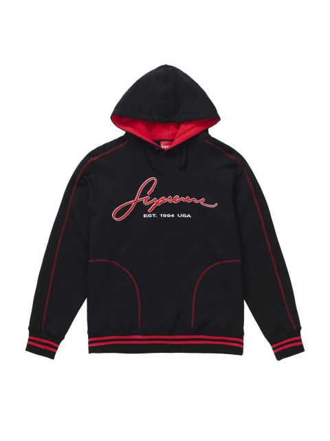 SUPREME HOODIE CONTRAST EMBROIDERED SS19
