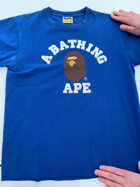 bathing ape tee blue