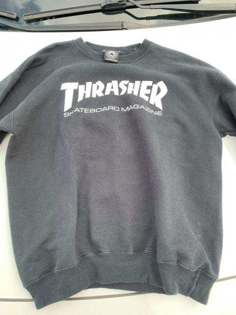 thrasher crewneck black